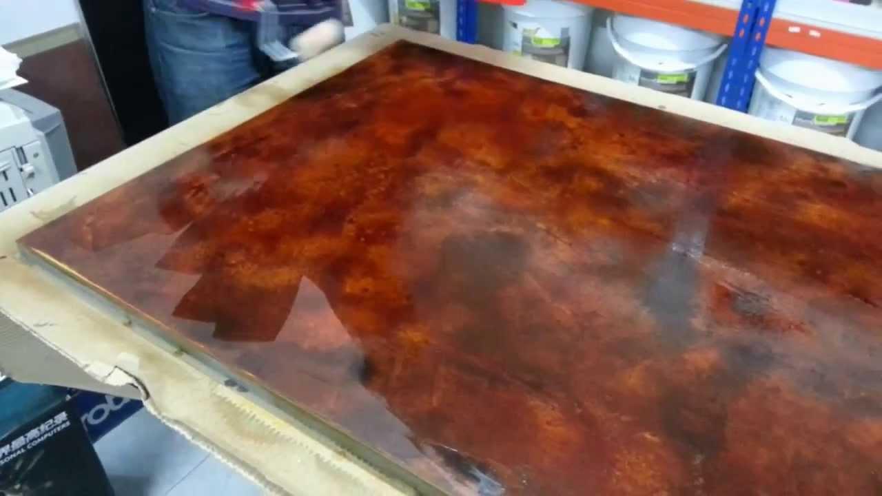 Aplicaci n de microcemento de efecto xido pinturas - Aplicacion de microcemento en paredes ...
