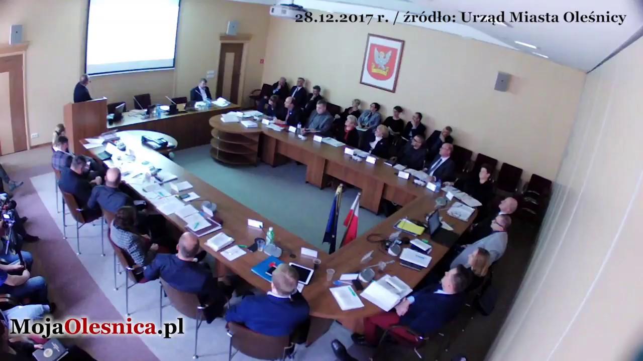 Oleśnica – sesje rady miasta i słowa burmistrza Michała Kołacińskiego