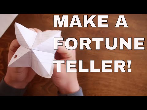 How To Make A Fortune Teller Out Of Paper Step By Step