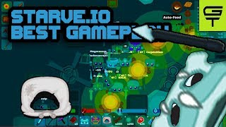STARVE.IO - BEST GAMEPLAY // FULL + FULL DRAGON GEAR AND WINTER PEASANT'S TUNIC,SUPER DIVING SUIT