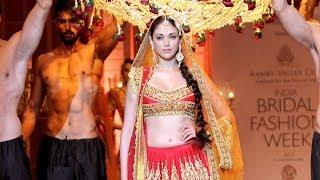 Aditi Rao Hydari walks the ramp at India Bridal Fashion Week 2013