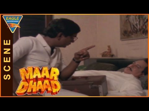 Maar Dhaad Hindi Movie || Sadashiv Goes To Mandakini House As Dr Dcruz|| Hemant Birje, Mandakini
