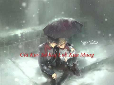 hmong love song - Cia Kuv So Koj Lub Kua Muag Lyrics thumbnail