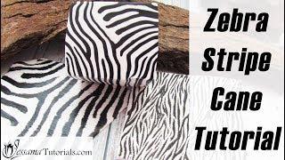 Polymer Clay Cane: Blacks, Whites, Zebra Stripes Tutorial