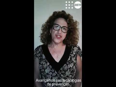 Jacque Cortês, conselheira do UNFPA Brasil, fala no Dia Mundial Contra a Aids