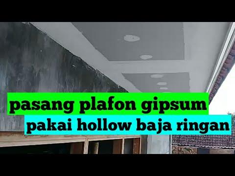 Baja Ringan Plafon Pemasangan Gipsum Hollow Youtube