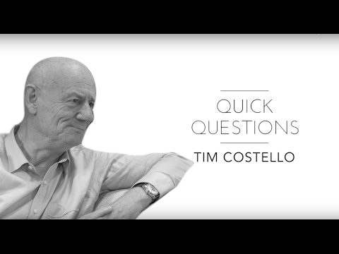 Quick Questions with World Vision, Chief Advocate, Tim Costello