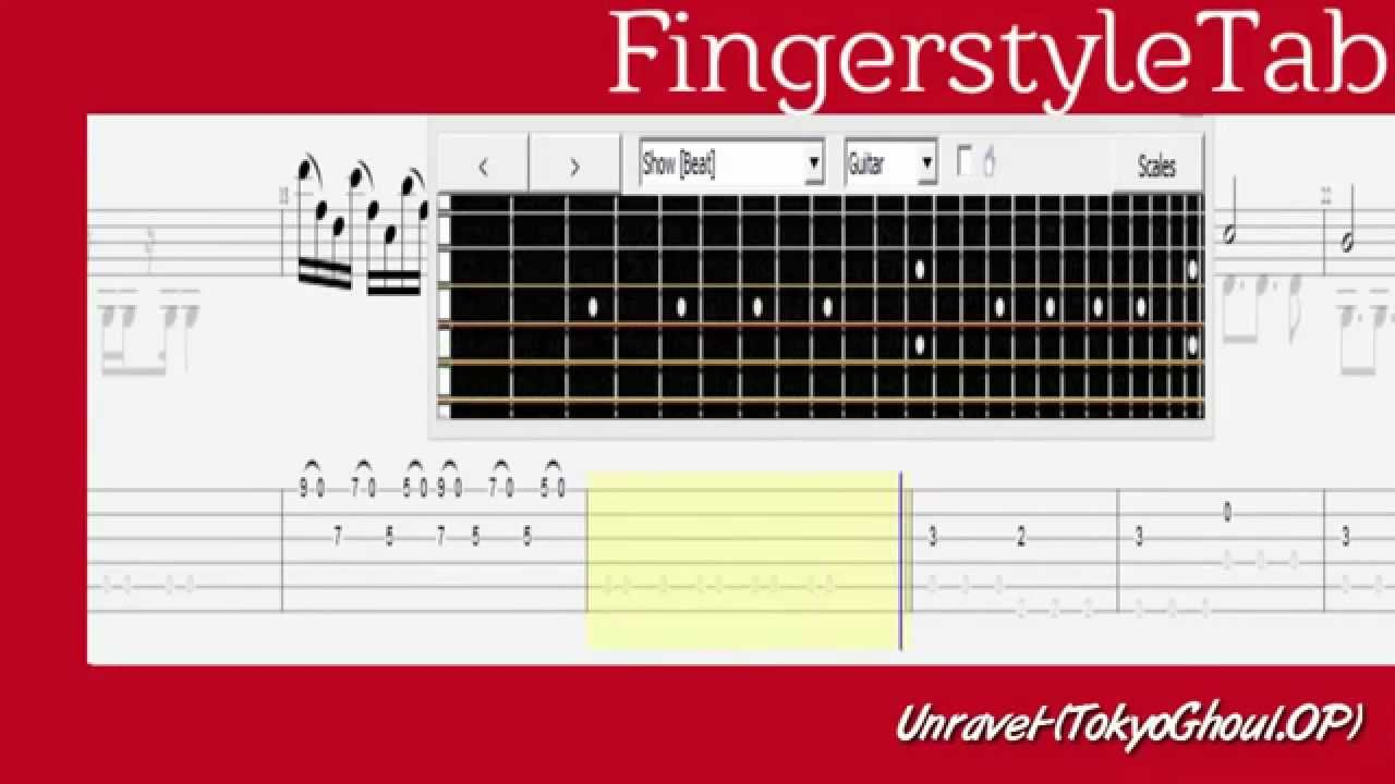 Learn How to Play Unravel Fingerstyle Acoustic Guitar Lesson TABS Tokyo Ghoul - YouTube