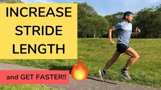 INCREASING STRIDE LENGTH for SPEED! Run FASTER with better TECHNIQUE!