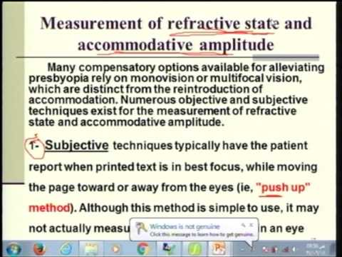 Lecture 17: THEORIES OF ACCOMMODATION