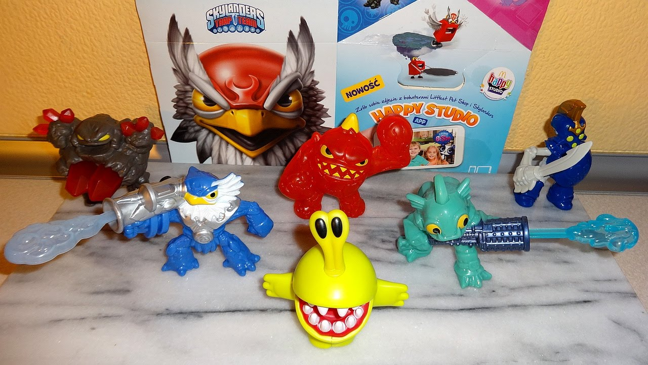 2014 Skylanders Trap Team Toys Happy Meal Mcdonalds Full