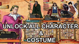 One Piece Burning Blood v.1.09 100% unlock all character & Costume save game file