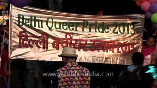 Slogans and placards in support of LBGT: Delhi Queer Pride