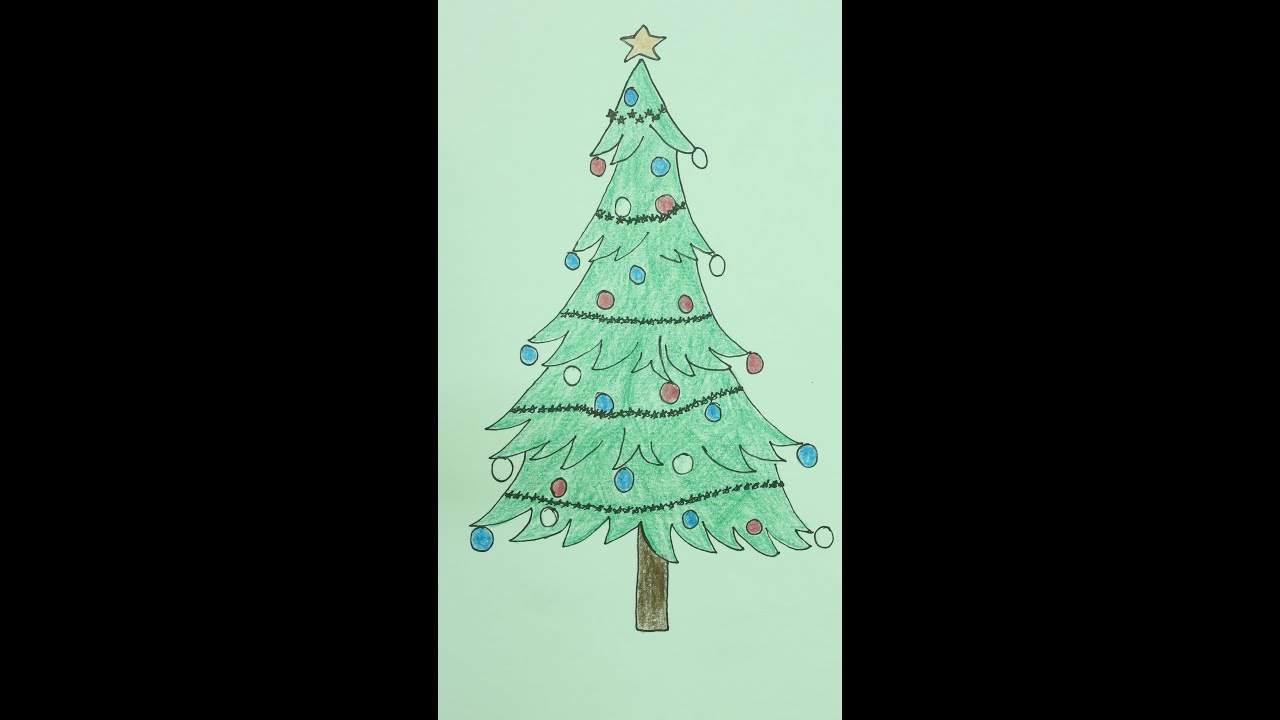 How to Draw Christmas Tree/X Mas Tree/25 Dec - YouTube