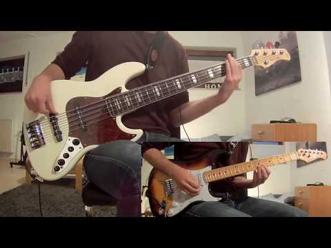 Sail Awolnation Guitarbass Cover With Notestab Youtube