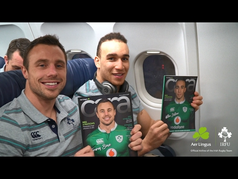 Irish Rugby Team departs Dublin Airport for Edinburgh