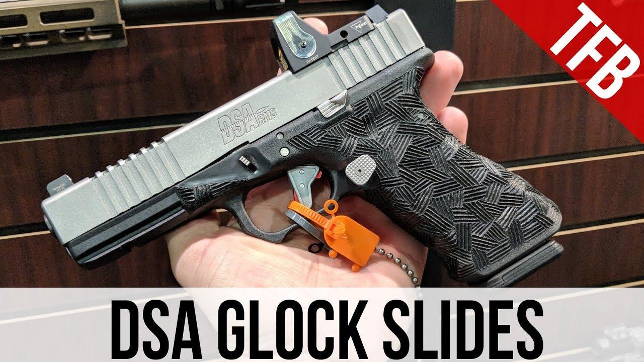 [SHOT 2018] DSA's Inexpensive Steel and Titanium Glock Slides