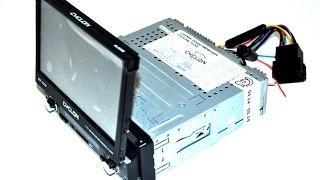 видео Магнитола 1-din с выдвижным экраном: обзор и установка