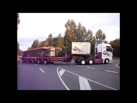 Schwertransport spedition koch ratshausen 14 youtube for Koch transporte