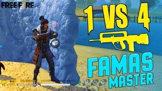 Famas Master One vs Four 19 Kill Gameplay - Garena Free Fire