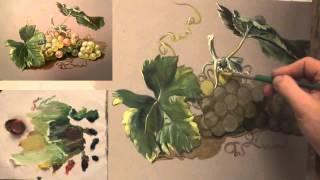 Как написать виноград маслом. 10 секретов(Вместе с Денисом вы внимательно проработаете рисунок, разберете тени и световые акценты и многое другое...., 2016-02-11T08:06:38.000Z)