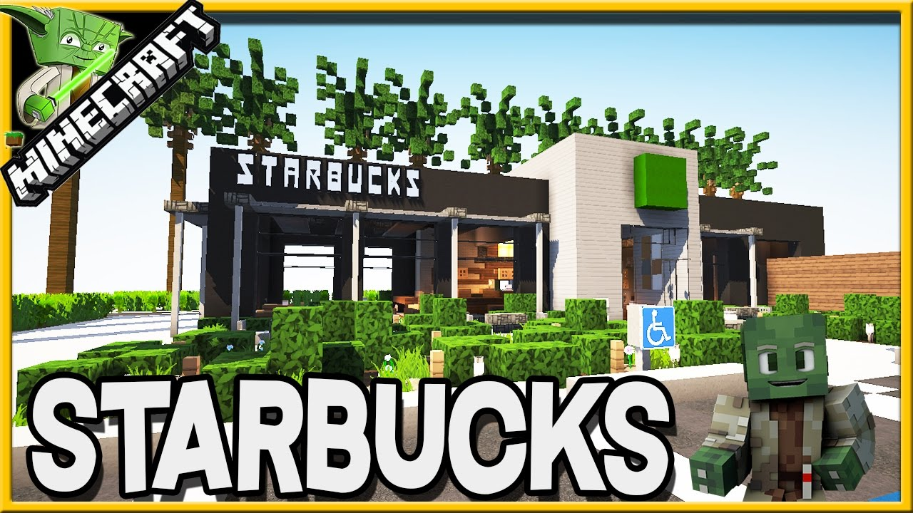 how to make a small starbucks in minecraft