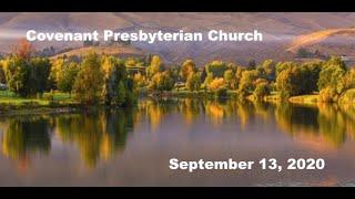 September 13, 2020 - Sunday Worship Service