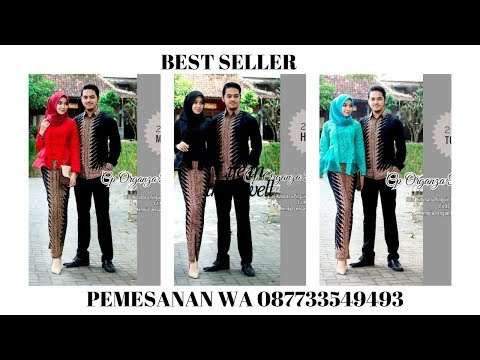 Dress Model Baju Batik Couple Kebaya Kutubaru Modern