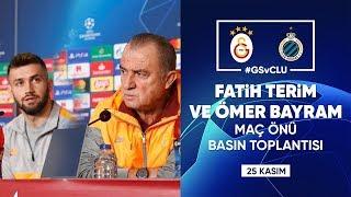 🎙 Teknik direktörümüz Fatih Terim ve oyuncumuz Ömer Bayram'ın basın toplantısı | #GSvCLU #UCL