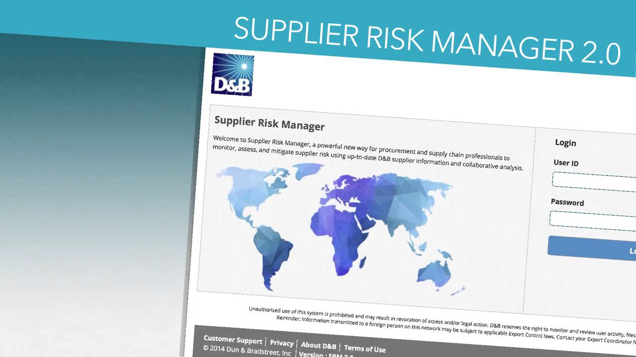 D B Presents Supplier Risk Manager 2 0 Youtube