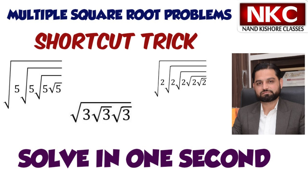 Multiple Square Root Problems   Shortcut Trick   Solve in Second   Important for All Aspirants