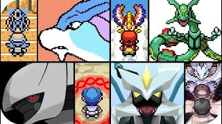 Pokémon 2D Games  - Every Legendary Cutscenes Animations (1080p60)