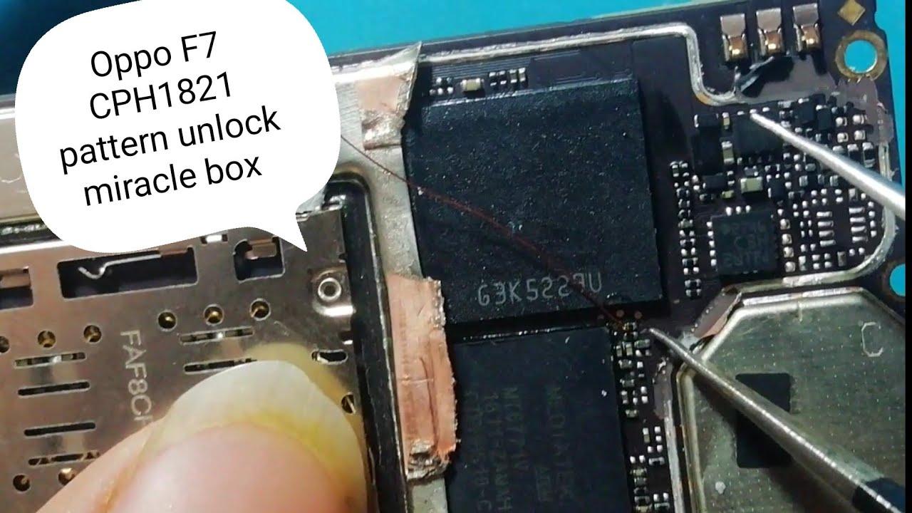 Oppo F7 CPH 1821 pattern unlock miracle box oppo F7 new