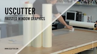 Applying Frosted Window Graphics