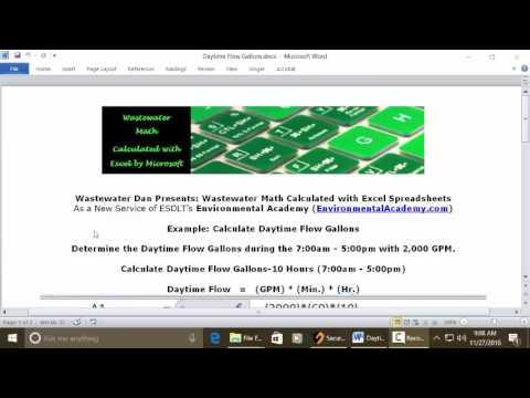 Math Solutions Hydraulic Loading Calculations