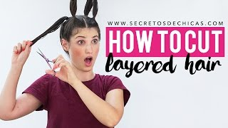 How to cut layered hair with ponytails | Haircut women