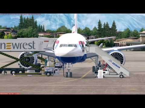 [PREPAR3D] Charter Flight Boeing 777-200LR British Airways LGKR (Corfu) - EPML (Mielec)