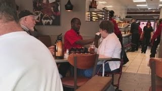 Waiter feeds disabled customer at IHOP, gets incredible job offer thumbnail