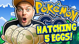 HATCHING 5 EGGS + MEETING THE ENEMY! - Pokemon Go Gameplay! [2]