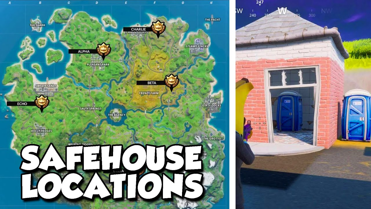 Fortnite Shadow Safe House Locations Brutus Briefing Challenges Week 1 2 Youtube