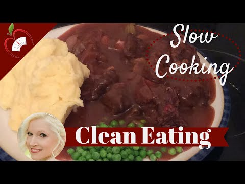 Slow Cooker Lamb Red Wine Stew