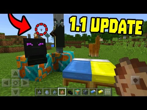 MCPE 1.1 BETA RELEASED!!! - New Mobs & MORE - Minecraft PE (1.1 UPDATE)