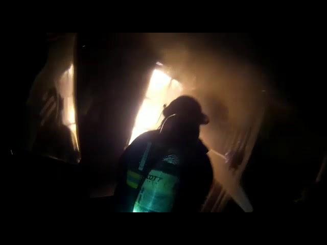 Incendio de vivienda en barrio Sarmiento