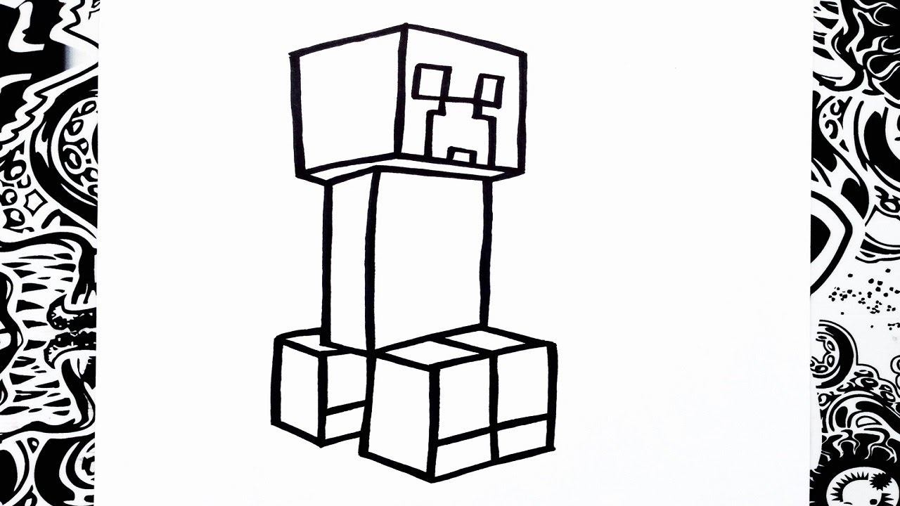 Como Dibujar A Creeper How To Draw Creeper Como Desenhar