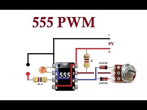 555  PWM. Simple Circuits.