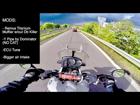 LOUDEST Bmw R 1150 GS Adventure at 180Km/h (Remus Titanium Exhaust + Y Pipe DECAT + ECU)