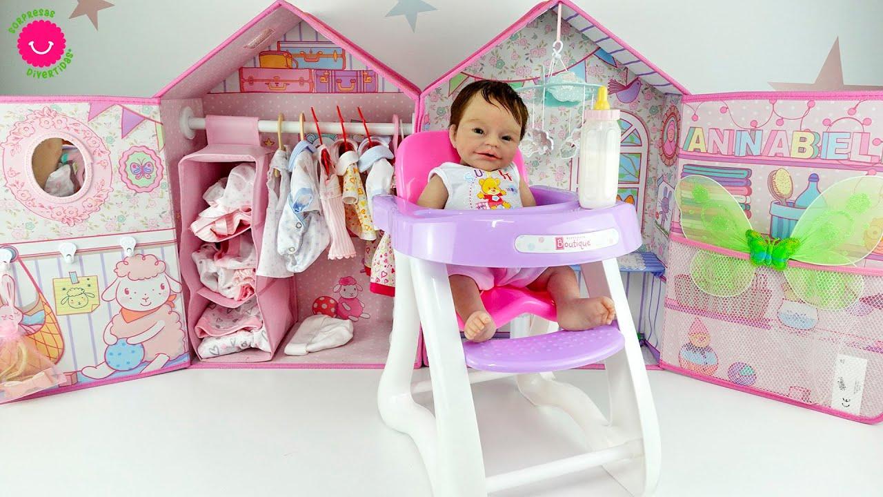 ¿Qué le pasa a Anuk? 😳Mi bebé de silicona estrena trona de muñecas bebé