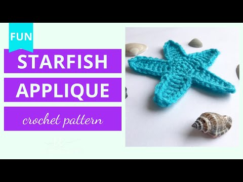 Crochet Starfish Applique Tutorial
