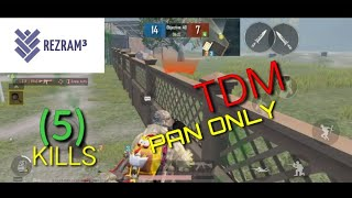 Pubg mobile gameplay|pan only challenge|team death match|by rezram|melee weapon