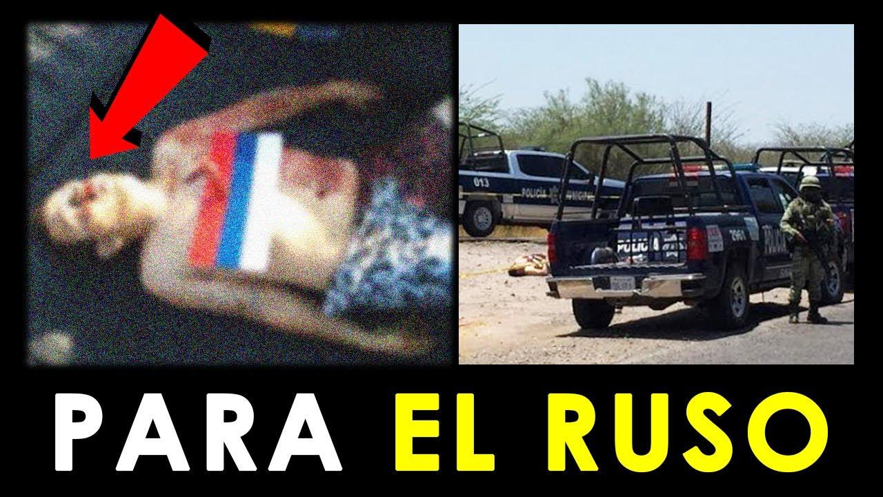 Chapitos dejan mensaje para El Ruso, en Tepuche, Sinaloa.